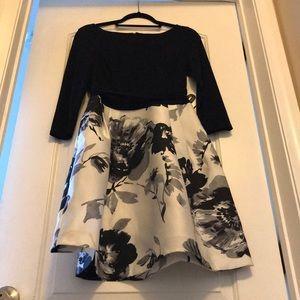 Elegant Black And White Dress